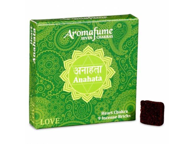 Aromafume vonné cihličky 7 Čaker Anahata, 9 ks