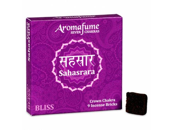 Aromafume vonné cihličky 7 Čaker Sahasrara, 9 ks
