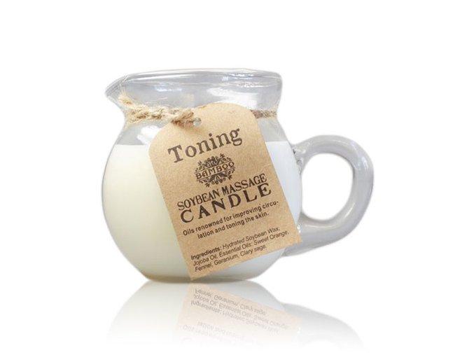 Sójová masážní aroma svíčka Tónovací a zpevňující, 220 g
