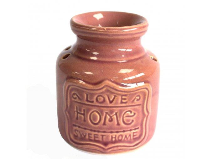 Aroma lampa Levandulová Love Home Sweet Home, 11 x 9 x 9 cm