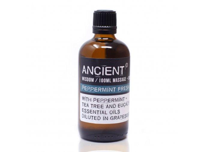 Aroma olej pro masáže a do koupele Svěží máta směs, 100 ml