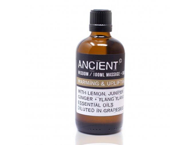 Aroma olej pro masáže a do koupele Hřejivá a povzbudivá směs, 100 ml