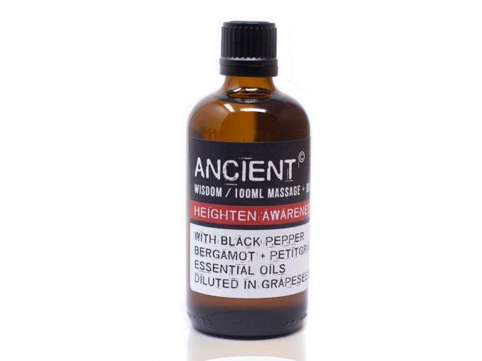Aroma olej pro masáže a do koupele Posílení vnímání směs, 100 ml