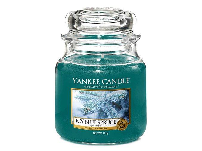 Vonná svíčka ve skleněné dóze Zledovatělý modrý smrk Icy blue spruce , 411 g