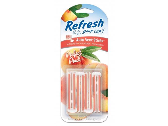 Vonné kolíčky Refresh your car Perfect Peach, osvěžovač do auta, 4 ks