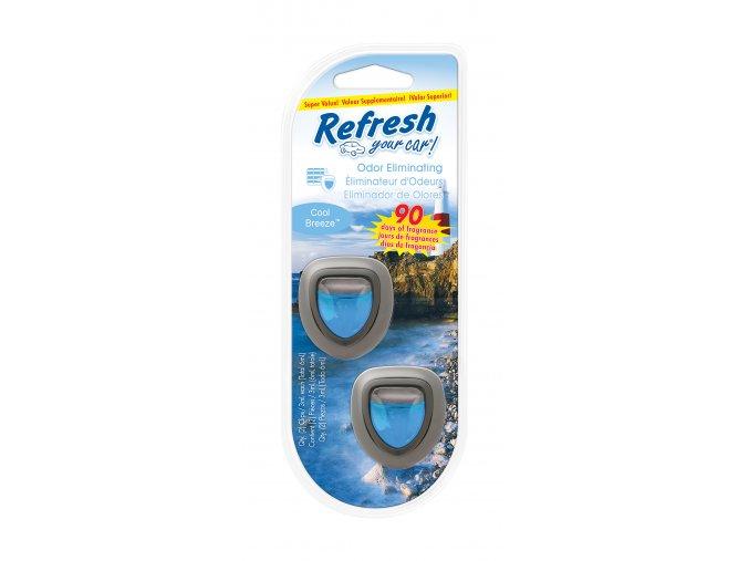 Vůně do auta Refresh Your Car Mini Diffusers Cool Breeze, 2 ks