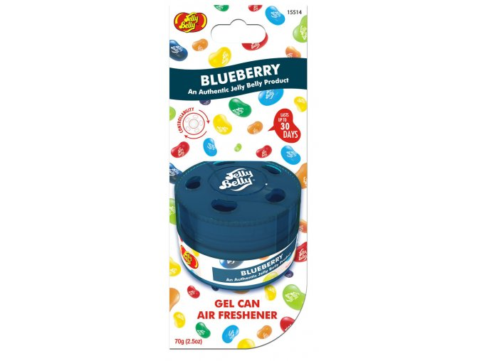 Vůně do auta Jelly Belly Gel Can Air Freshener Blueberry