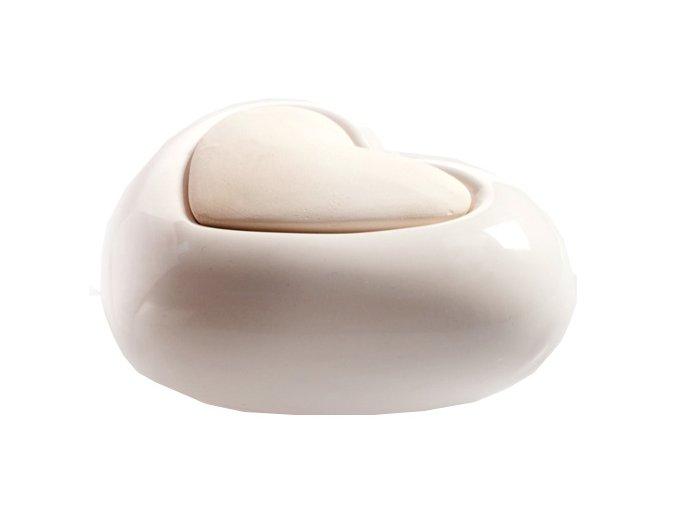 Aroma difuzér keramický Air Design srdce, bílý