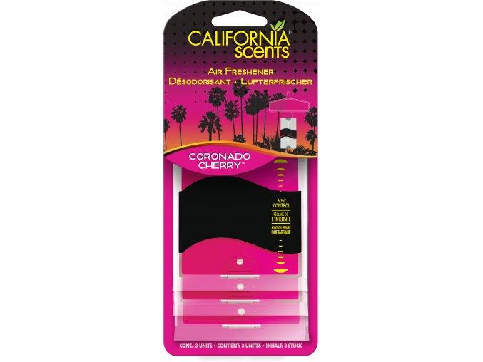 California Scents 3 Pack Paper Air Freshener Coronado Cherry Višně
