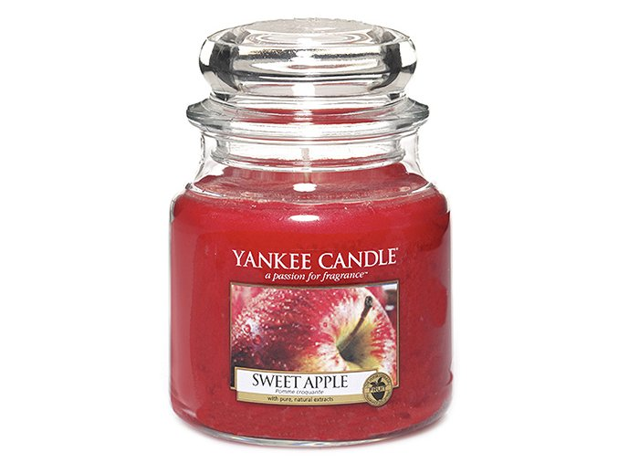 Vonná svíčka ve skleněné dóze Sladké jablko SWEET APPLE, 411 g