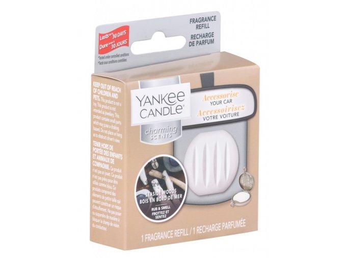 Náhradní náplň vůně do auta Yankee Candle Charming Scents Seaside Woods Přímořská dřeva, 30 g