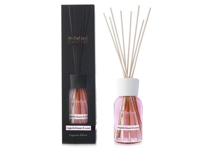 Aroma difuzér Millefiori Milano Natural, Květy magnólie a dřevo, 500 ml, 500 ml