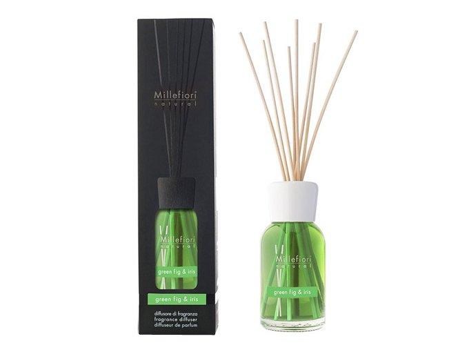 Aroma difuzér Millefiori Milano Natural, Zelený fík a kosatec, 250 ml