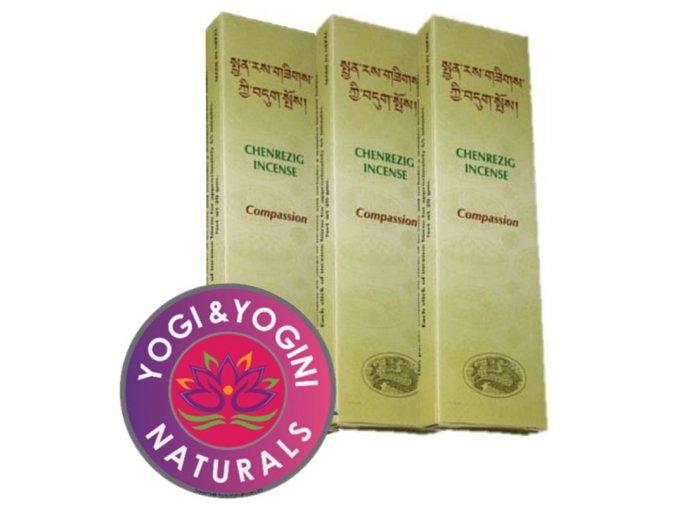 Vonné tyčinky Tibetan Chenrezig Compassion Soucit, 20 g