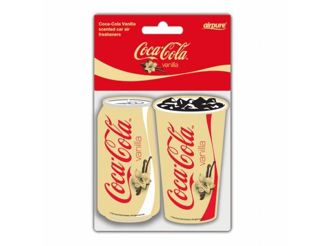 Osvěžovač vzduchu Coca Cola® Paper Air Freshener Vanilla, 2 ks