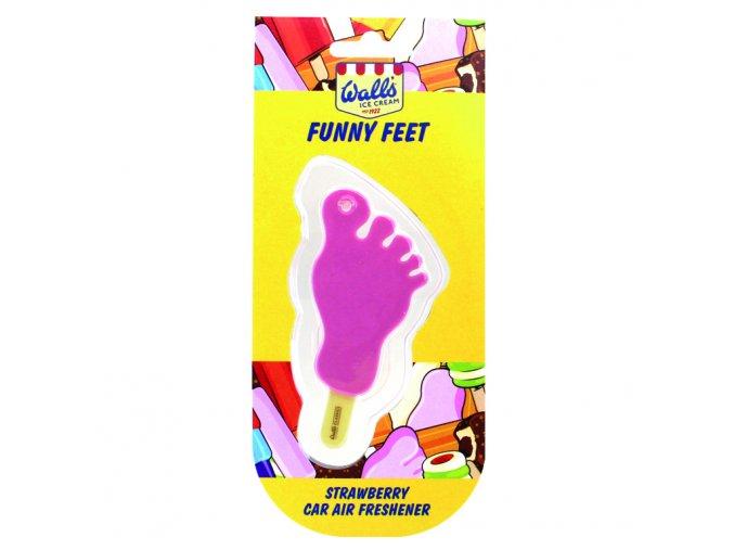 Osvěžovač vzduchu Wall's® Ice Cream Funny Feet 3D Car Air Freshener Strawberry, 1 ks