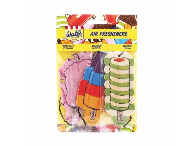 Osvěžovač vzduchu Wall's® Ice Cream MIX 2D Paper Air Freshener, 3 ks