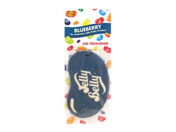 Vůně do auta Jelly Belly 2D Paper Air Freshener Blueberry Borůvky, 1 ks