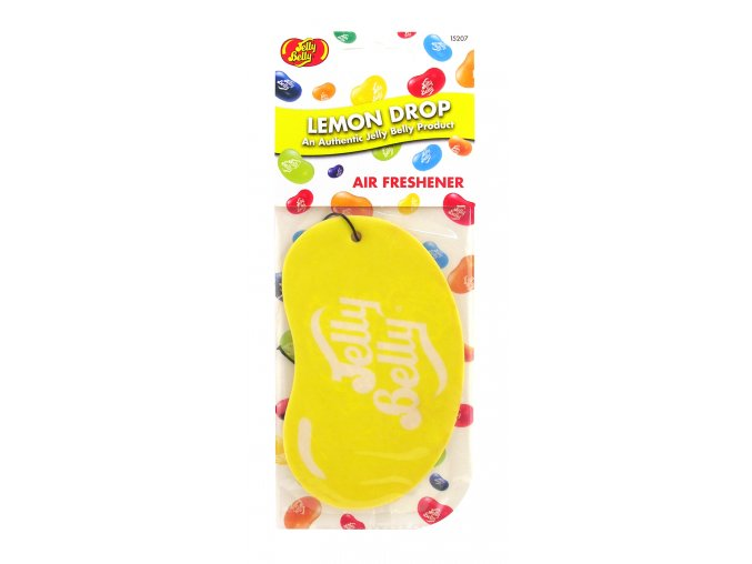 Vůně do auta Jelly Belly 2D Paper Air Freshener Lemon Drop Citronový bonbon, 1 ks