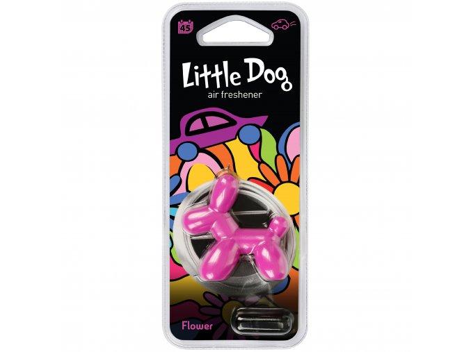Osvěžovač vzduchu Little Dog Vent 3D Air Freshener Pink Flower, 1 ks