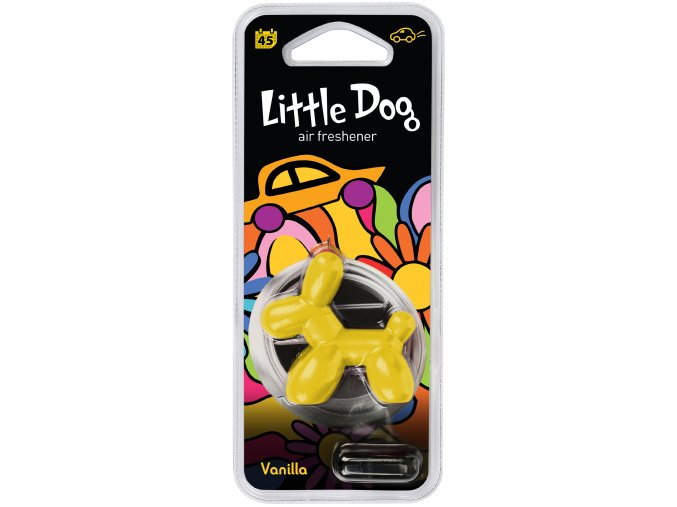 Osvěžovač vzduchu Little Dog Vent 3D Air Freshener Yellow Vanilla, 1 ks