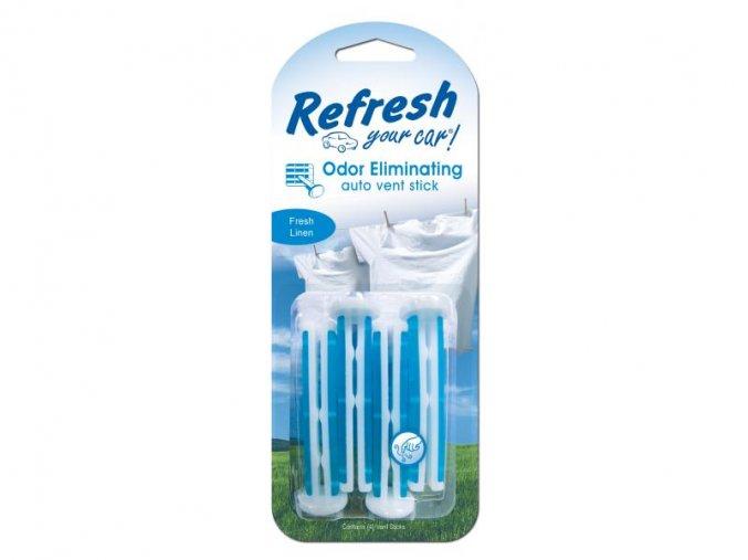 Vonné kolíčky Refresh your car Fresh Linen, osvěžovač do auta, 4 ks