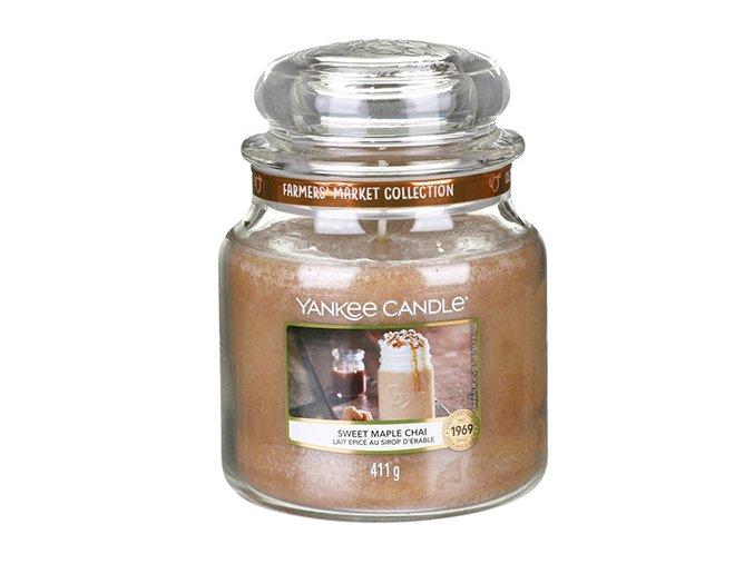 Vonná svíčka ve skleněné dóze Sladký javorový chai SWEET MAPLE CHAI, 411 g