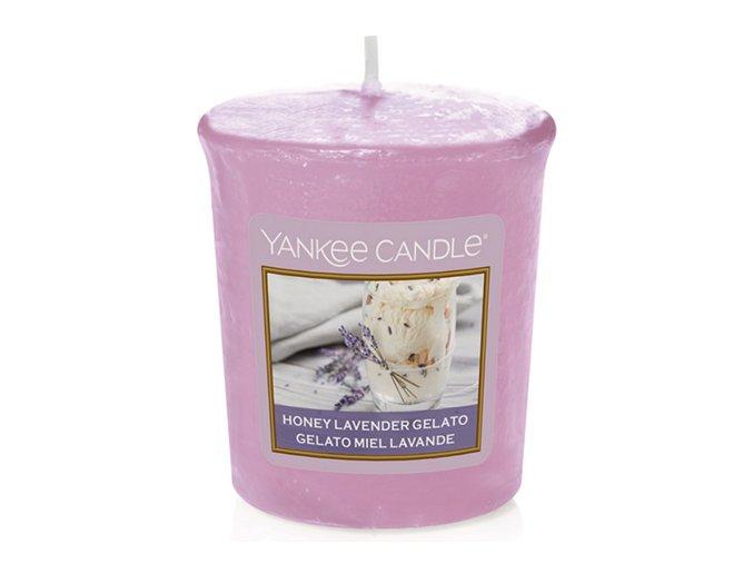 Votivní svíčka Yankee Candle Levandulová zmrzlina s medem, 49 g