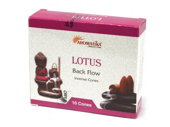 Vonné kužely Aromatika Tekoucí dým Lotus, 10 ks