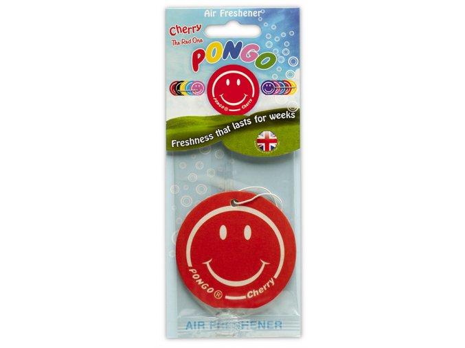 Osvěžovač vzduchu Pongo Smiley 2D Air Freshener Cherry, 1 ks