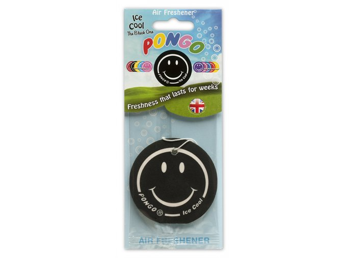 Osvěžovač vzduchu Pongo Smiley 2D Air Freshener Ice Cool, 1 ks