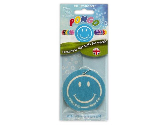 Osvěžovač vzduchu Pongo Smiley 2D Air Freshener New Car, 1 ks