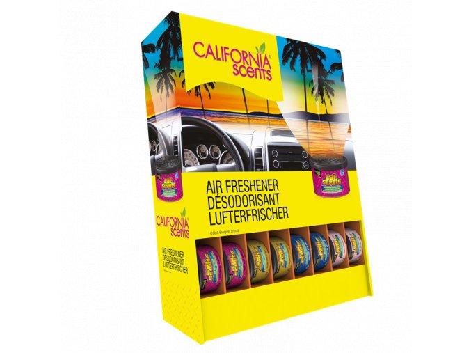 Sada 24 ks vůní California Car Scents MIX oblíbených vůní, 2 x 12 x 42 g + prodejní zásobník zdarma
