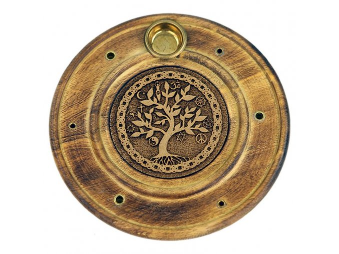 Stojánek na vonné tyčinky a kužely Strom života, 10 cm