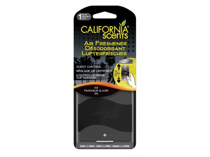 California Scents Paper Air Freshener Ice Ledová svěžest, 1 ks