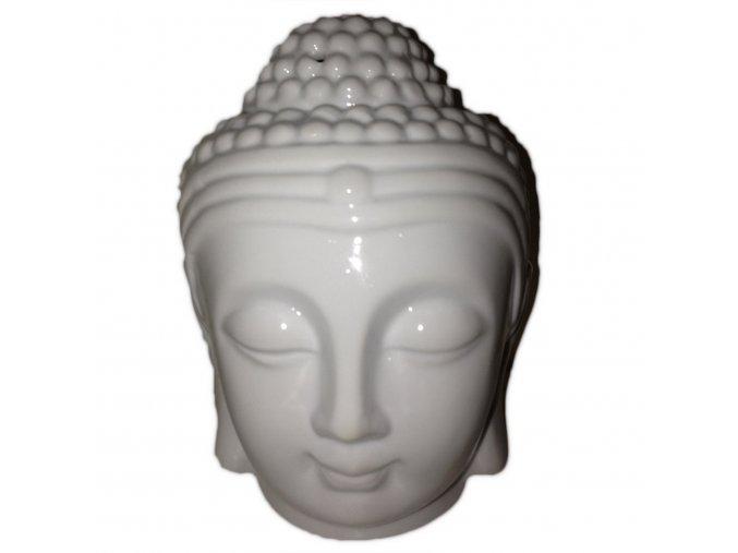 Aroma lampa Hlava Buddhy bílá