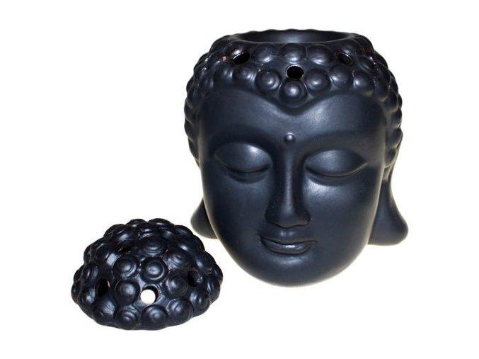 Aroma lampa Hlava Buddhy černá