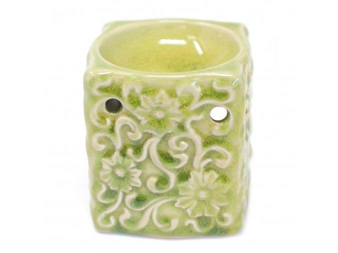 Aroma lampa Malá čtvercová Květy zelená