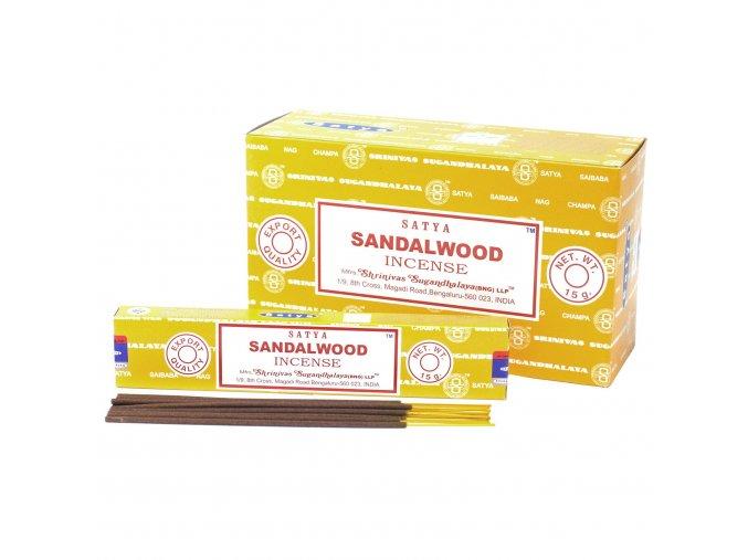 Vonné tyčinky Shrinivas Satya Santalové Dřevo, 15 g