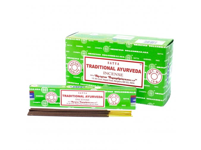 Vonné tyčinky Shrinivas Satya Tradiční Ayurveda, 15 g