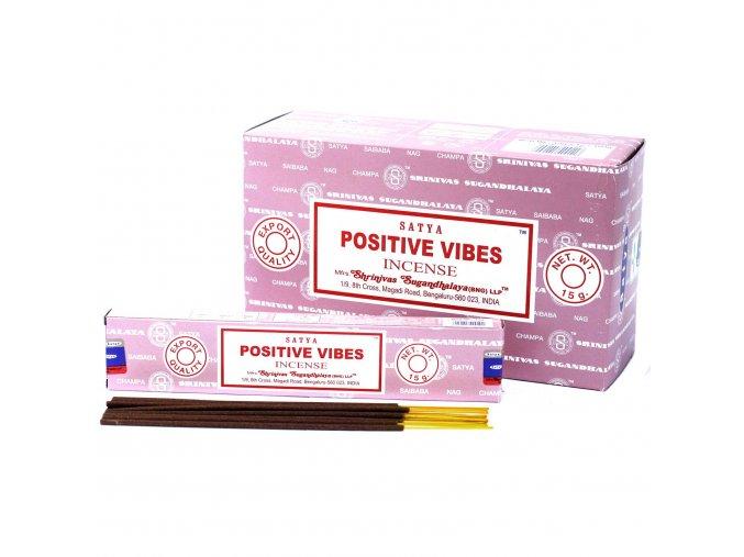 Vonné tyčinky Shrinivas Satya Pozitivní Vibrace, 15 g