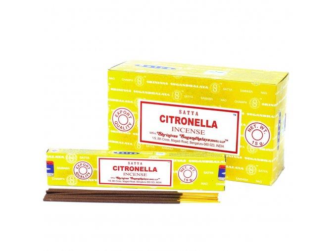 Vonné tyčinky Shrinivas Satya Citronela, 15 g