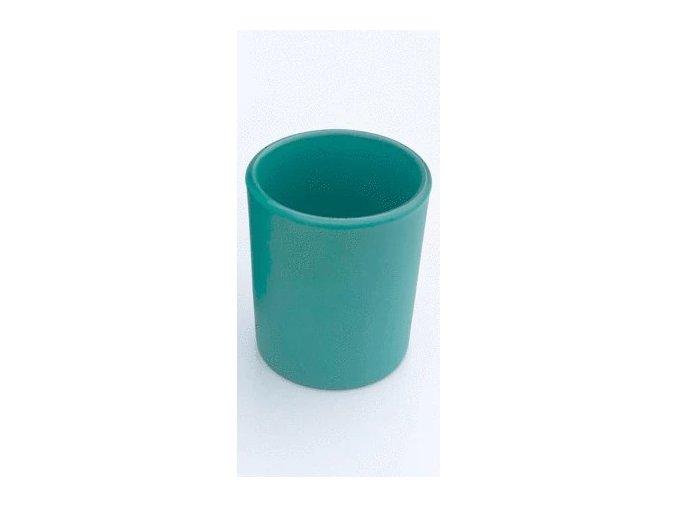 Skleněný svícen na čajové a votivní svíčky zelená