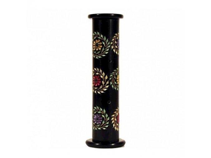 Stojánek na vonné tyčinky mastek s květinami, 28 x 6,5 cm