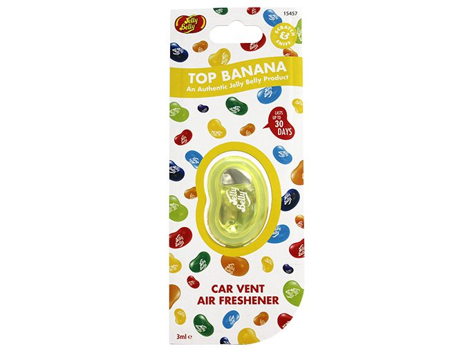 Vůně do auta Jelly Belly Vent Clip Top Banana Banán, 1 ks