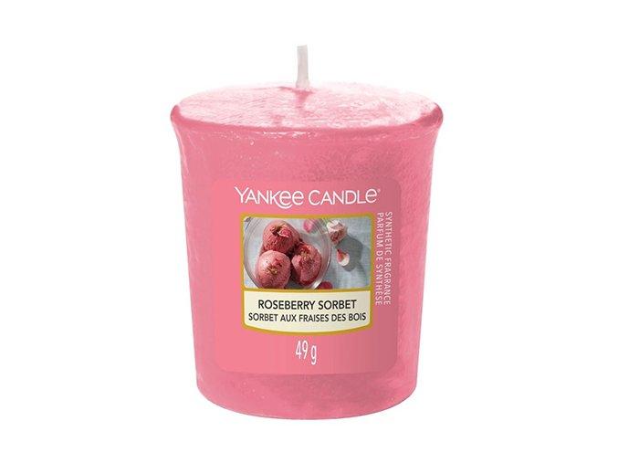 Votivní svíčka Yankee Candle Růžový sorbet Roseberry Sorbet, 49 g
