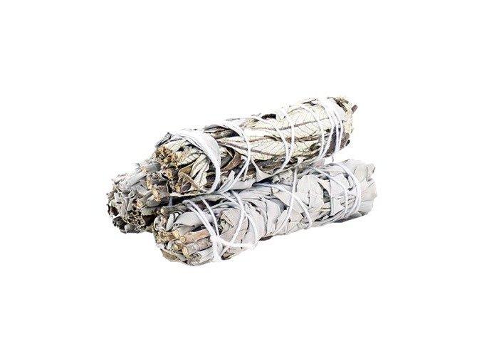 Šalvěj bílá & Yerba Santa svazek pro vykuřování, 10 cm, 1 ks