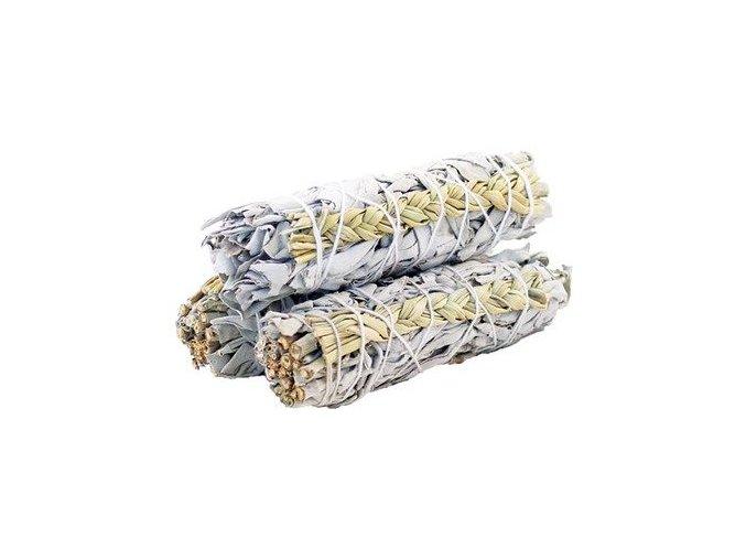 Šalvěj bílá & Sladká tráva svazek pro vykuřování, 10 cm, 1 ks
