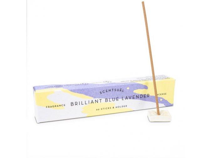 Vonné tyčinky Nippon Kodo Scentsual Brilliant Blue Lavender, 30 ks