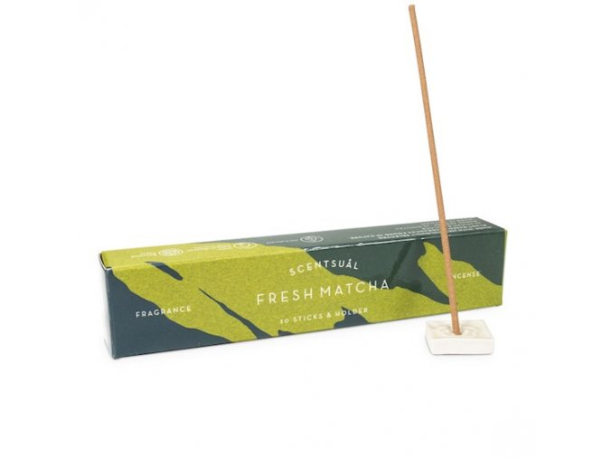 Vonné tyčinky Nippon Kodo Scentsual Fresh Matcha, 30 ks
